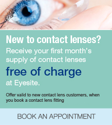 New to contact lenses?Receive your first month's supply of contact lenses