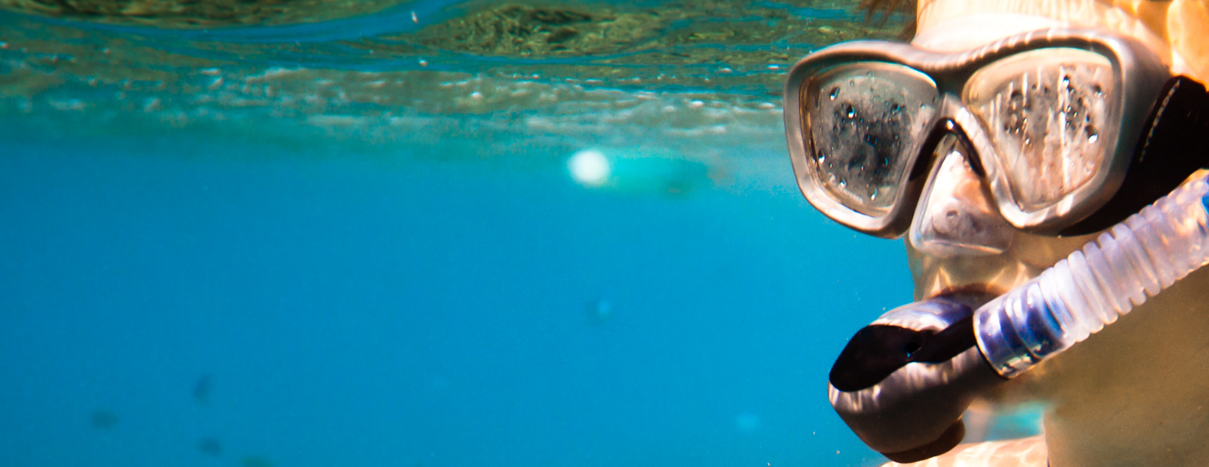 Man snorkelling in the sea